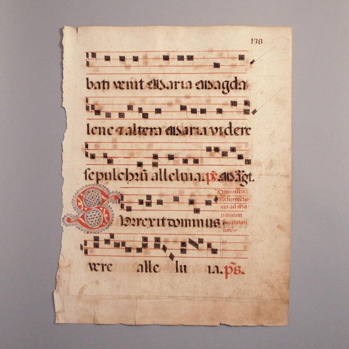 アンティーク 写本 グレゴリオ聖歌 ネウマ譜-2 聖詩篇・讃美歌 ...
